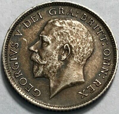 GREAT BRITAIN - George V - WWI Silver Sixpence - 1914 - TONED Ch. Uncirculated