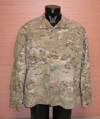 US Military Issue Multicam OCP Camo Army Combat Coat Jacket FR Sz Large Regular