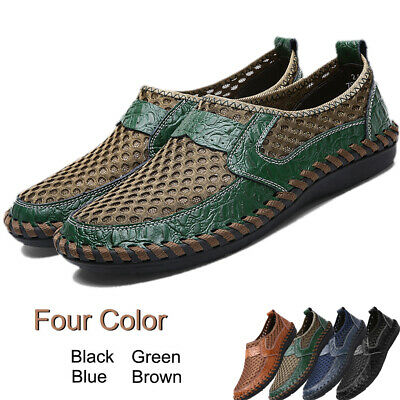 Mens Casual Quick Dry Water Shoes Mesh Breath Slip On Beach Walk Surf Sneaker