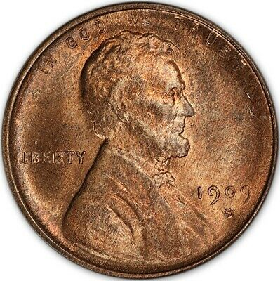 1909-S VDB 1C Lincoln Cent - Type 1 Wheat Reverse PCGS MS65RB