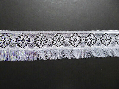 White Feathery Vintage Fringed  Trim. 1960's? PPM