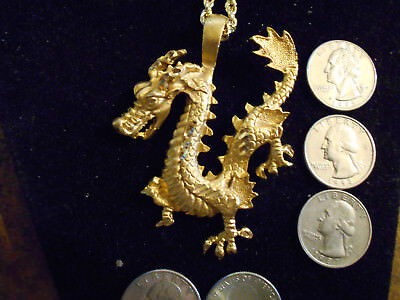 bling gold plated druid stonehenge dragon pendant charm hip hop necklace jewelry