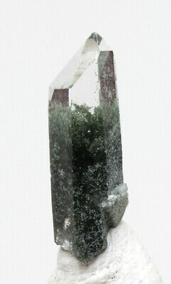 Clear Quartz Chlorite Phantom Terminated Crystal Point Gemstone Mineral Specimen