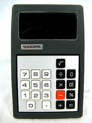 Rare 70´s vintage calculator Taschenrechner 1000 PR working condition