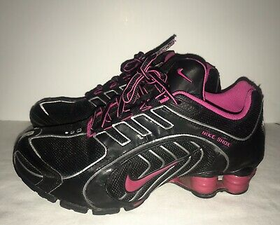 new concept 33ef7 41416 NIKE SHOX Navina Black And Pink Sneakers Women s Size 7 M