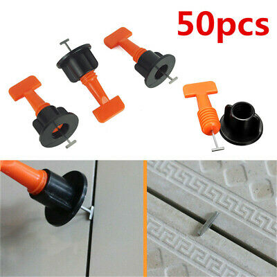 50pcs Floor Wall Tile Levelling System Reusable Tile Leveling Tools Construction