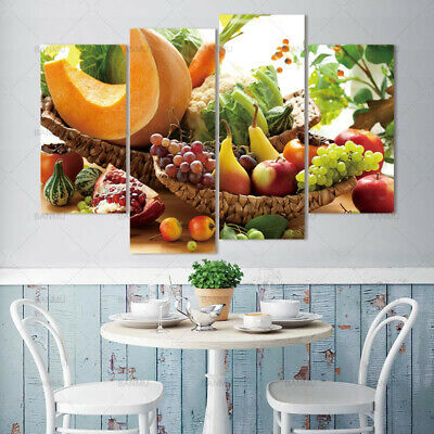Grape Apple Fruit Canvas Painting Wall Art Picture HD Print Home Decor