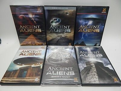 Ancient Aliens Lot Of 7 DVDs Seasons 1, 2 3, 4, 5 Vol 1 & 2 TWO STILL SEALED NEW