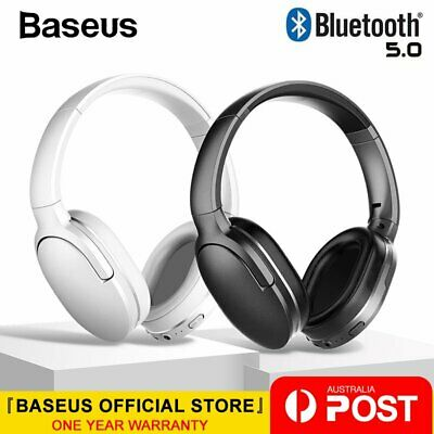Baseus Wireless Headphones Stereo Earphone Bluetooth 5.0 Headset HiFi Bass