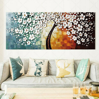 Abstract Flower Tree Canvas Painting Wall Art Picture Home Decor Decoration