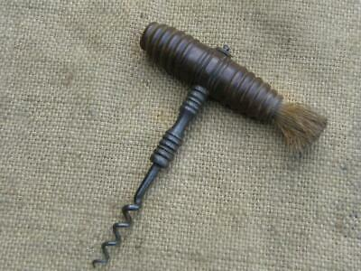 Antique Corkscrew With Original Brush.