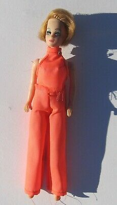 1970 Topper Dawn JESSICA Doll in Orange Pantsuit Nice Outfit Good Condition