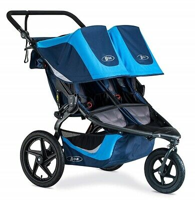 Bob Revolution Flex 3.0 Duallie Twin Baby Double Stroller Glacier Blue NEW 2019