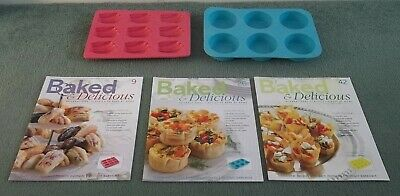 Baked & Delicious Magazines Issues 9, 26, 42 Plus Silicone Tart/ Madeleine Trays