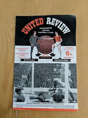 1965/66 MANCHESTER UNITED FC v NORTHAMPTON TOWN DIVISION 1 no token GEORGE BEST