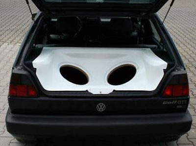 VW Golf 2 II Audio Box / Kofferraumausbau / Soundbox / Soundboard