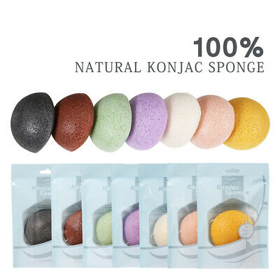 1Pcs Eponge Konjac Naturel Douceur Laver Nettoyer Visage Massage Exfoliant Mode