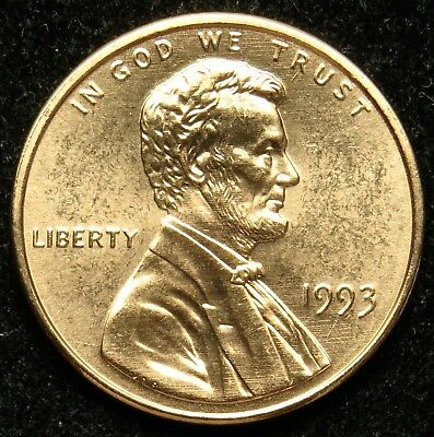 1993 Uncirculated Lincoln Memorial Cent Penny BU (B02)