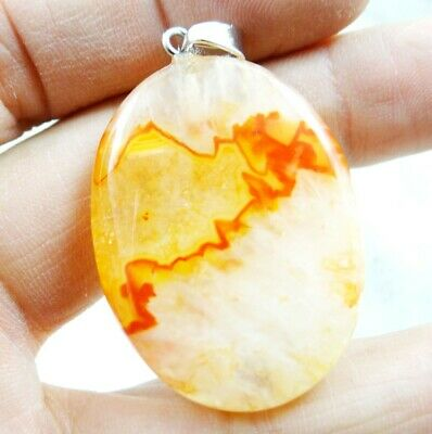 43*30MM Natural picture agate pendant Gemstone Making jewelry C138