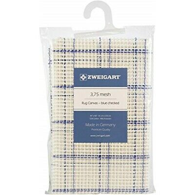"Zweigart Rug Canvas 36""x60"" 3.75 Mesh-36""x60"" Blue Checked"