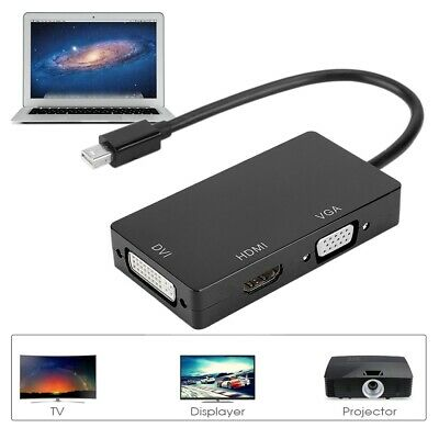 3 in 1 1080P HD HDMI Mini DP Display Port to HD/DVI/VGA Adapter Converter Cable