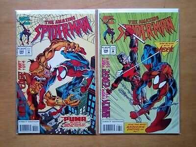 2 Issues Amazing Spider-Man #395,396 Marvel Comics Back Form The Edge Parts 1,3
