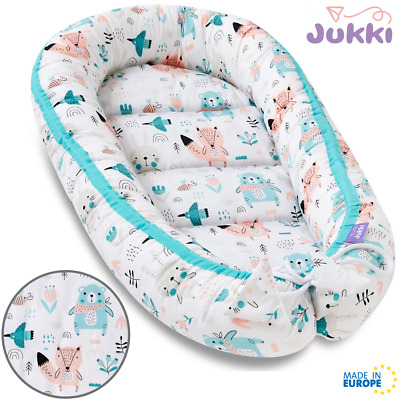 Baby Nest Bed Babynest Co Pod Newborn Snuggle Crib Bed Toddler Cot Minty forest