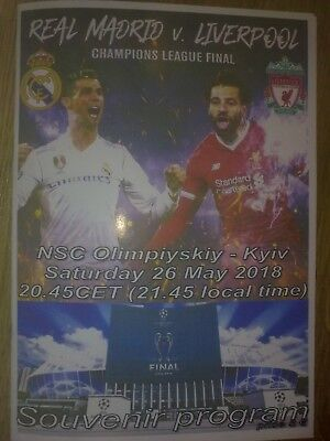 Programme Real Madrid - Liverpool 26/05/2018 Champions League Final (Pirate #2)