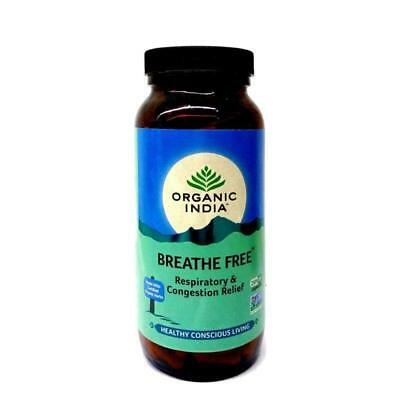 Organic India Breathe Free - 250 Capsules Bottle For Asthma & Respiratory Relief