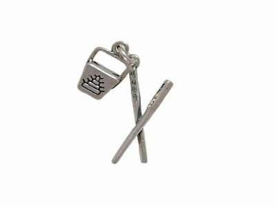 Sterling Silver 3-D Chinese Food Takeout Box & Chopsticks Charm