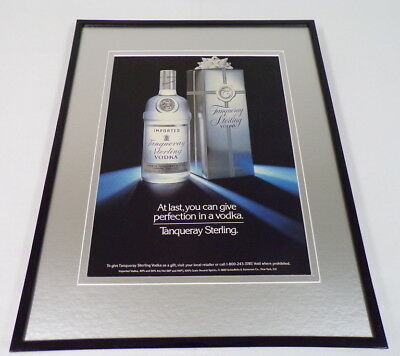 1989 Tanqueray Vodka Framed 11x14 ORIGINAL Advertisement