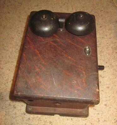 Western Electric Oak Wood Magneto Telephone Subset Model 315H.
