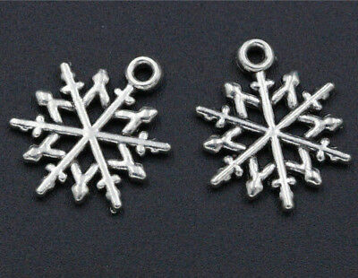 50//500pcs Tibetan Silver Smooth Water Drops Charm Pendants Jewelry Finding 9x3mm
