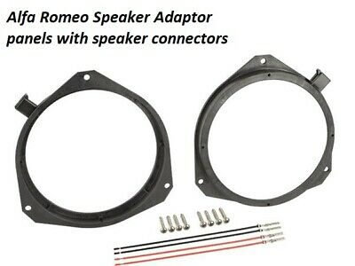 Alfa Romeo Mito Rear Door Speaker Adapter Adaptor Rings Spacers 165mm 6.5/""