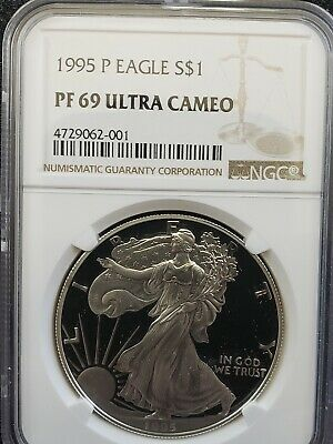 1995 P American Silver Eagle NGC Certified PF 69 Ultra Cameo