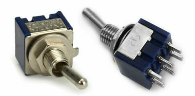 Pair MTS-202 Mini Toggle Switch DPDT 6-Pin ON/ON 6A 125V 2 Position