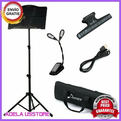 Atril Partituras Para Musica De Partitura Stand Plegable Portatil-Soporte Kit
