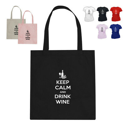 Keep Calm And Drink Wine Lover Gift Parody Tote Bag 188