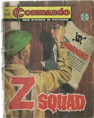 Z Squad,commando War Stories In Pictures,no.498,war Comic,1970