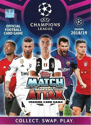Match Attax Champions League 2018/19 Full 18 Card Team Sets