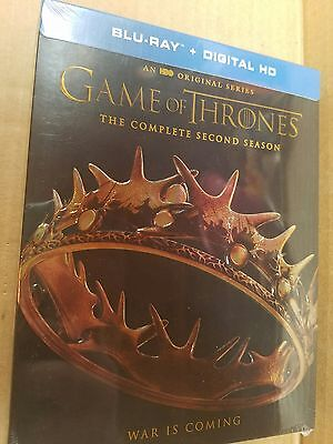 Game of Thrones: The Complete Second Season (Blu-ray+ DIGITAL, 2016, 5-Disc Set)