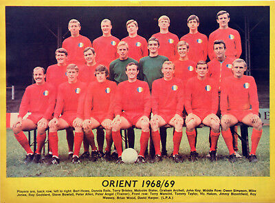 Leyton Orient Fc 1968 Team Picture Full-Page Magazine Cutting