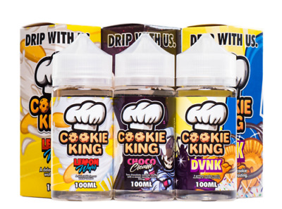 Cookie King E-Liquid Drip More Vape Ejuice All Flavours 120ml Shortfill 0mg 3mg