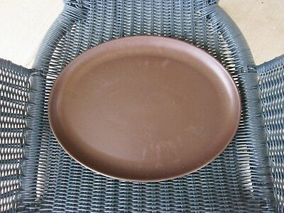"Denby Langley Mayflower 13.5"" Oval Serving Platter Brown Stoneware England Older"