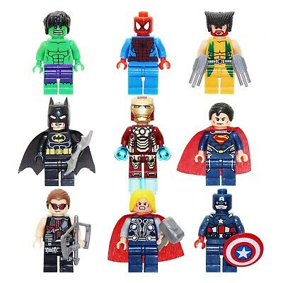 9pc Set Marvel Avengers DC Super Heroes Minifigurines Set For Lego