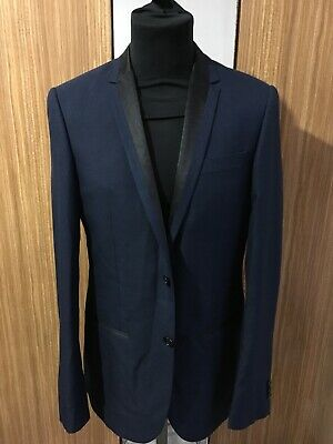 6705e9dc8 MENS RIVER ISLAND Jacket / Blazer Dark Grey With Fine Pinsripe 40 ...