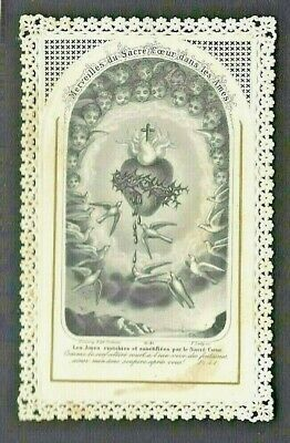 VINTAGE HOLY CARD French Lace NORBERTINE FATHERS DePere