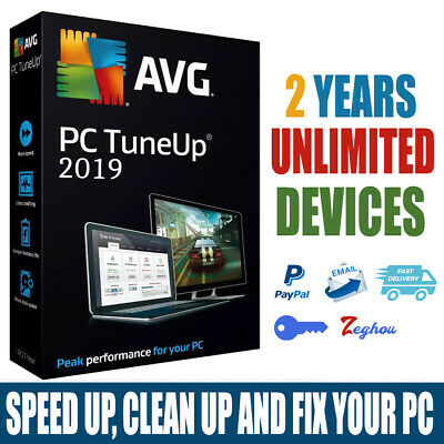 AVG PC TuneUp 2019 Full Version Unlimited PCs  - 2 Years Speed & clean up