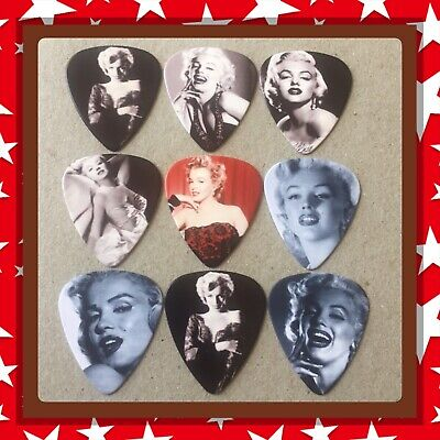 Lot Of 9 Double Sided 🎸marilyn Monroe 🎸  Guitar Picks Brand New #3