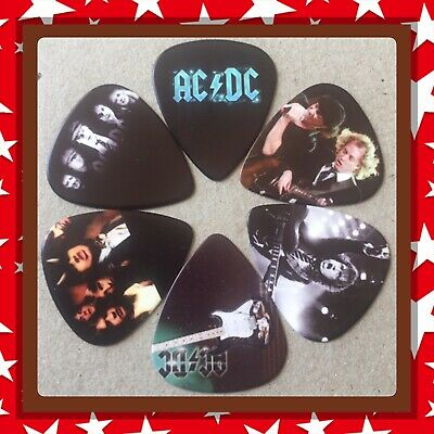 🎸 Lot Of 6 Double Sided Ac/dc 🎸 Guitar Picks Brand New 🎸 #3